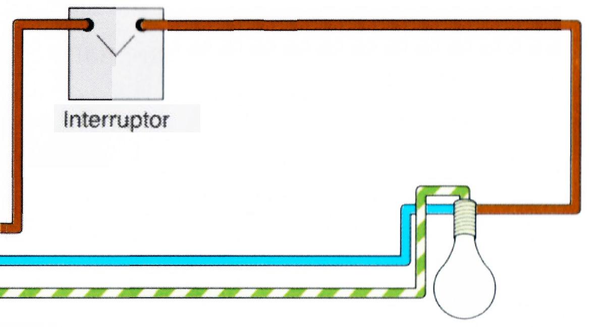 Esquema circuito con un interuptor