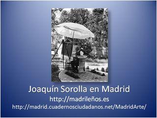 Joaquin Sorolla en Madrid